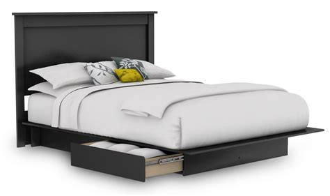 platform bed frames with storage size bed frame with storage decofurnish