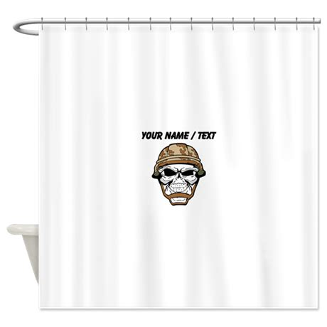 military bathroom decor custom soldier skull shower curtain by skeletonsandskulls2