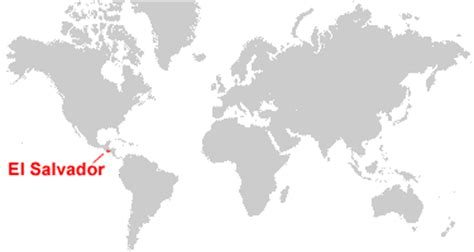 where is el salvador on a world map el salvador map and satellite image