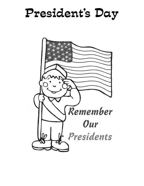 presidents day coloring pages preschool presidents day clipart coloring page