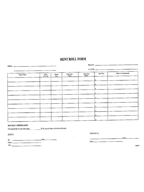 Rent Roll Form 5 Free Templates In Pdf Word Excel Download Microsoft Excel Rent Roll Template
