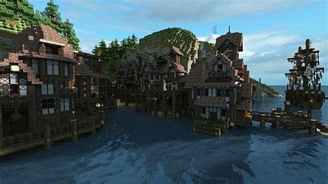 minecraft boat town minecraft island town google search minecraft