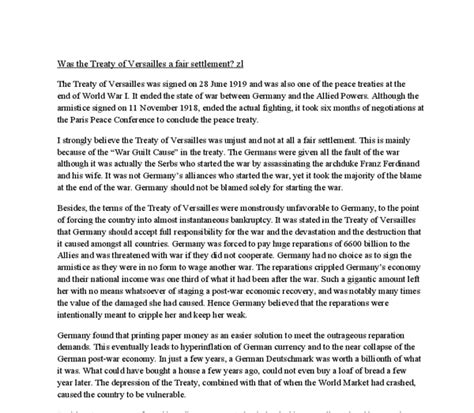 Treaty Of Versailles Essay by Treaty Of Versailles Fair Essay Asking For Newsletter Articles