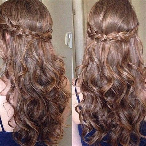 cute hairstyles for junior high dances prom hair to the side curly with braid www pixshark com