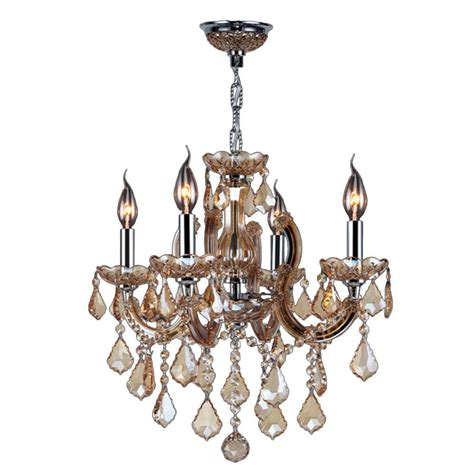 Polished Chrome Chandelier Worldwide Lighting Catherine Collection 4 Light Polished Chrome With Chandelier