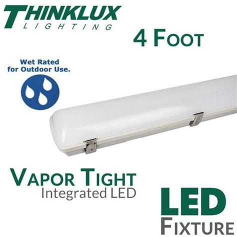 vapor tight led light thinklux 4 foot ip67 vapor tight led fixture 40 watts