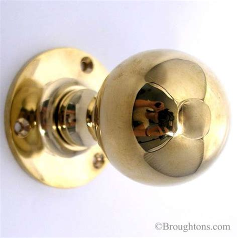 Unlacquered Brass Door Knob by Door Knobs 48mm Polished Brass Unlacquered