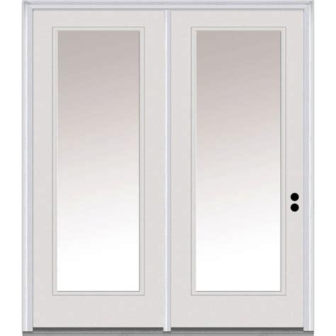 Jeld Wen 60 In X 80 In Primed White Left Hand Inswing Door Patio Doors