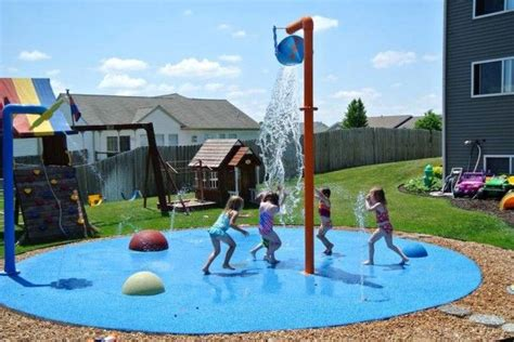 how to make a backyard splash pad backyard home splash pad pool splash pad pinterest