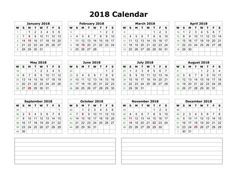 printable monthly calendar with space for notes printable calendar 2018 with blank space to make notes