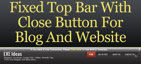 Html Fixed Top Bar by Fixed Top Bar With Button For And Website