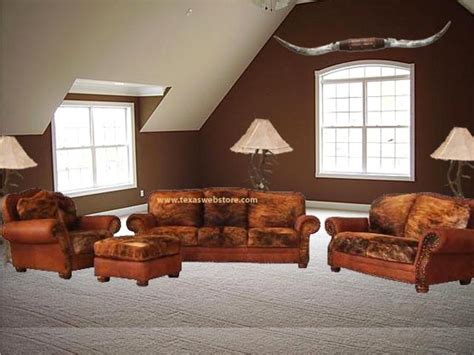 Cowhide Living Room Furniture by Cowhide Furniture Groups Cowhide Living Room We Beat