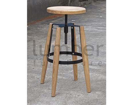 Jet Black Stool by Jet Stool American Ash Timber Seat And Legs Black