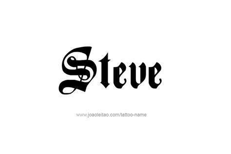 steve name tattoo designs steve name designs