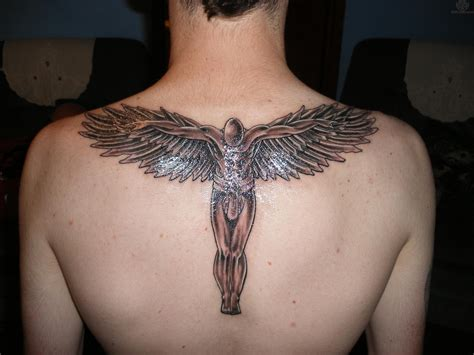 male angel tattoo designs back design for http