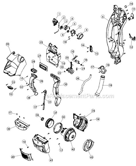 hoover floormate parts diagram hoover h3044 parts list and diagram ereplacementparts