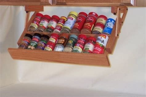 Under The Cabinet Spice Rack Diy Spice Rack Instructions And Ideas Guide Patterns