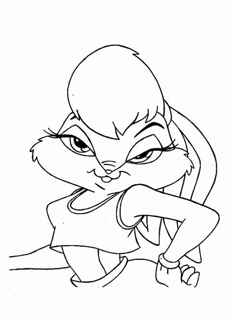 lola bunny coloring page coloring home