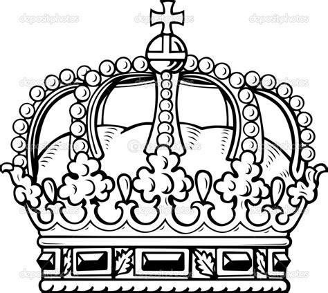 coloring page of a crown for a king drawn crown template king pencil and in color drawn
