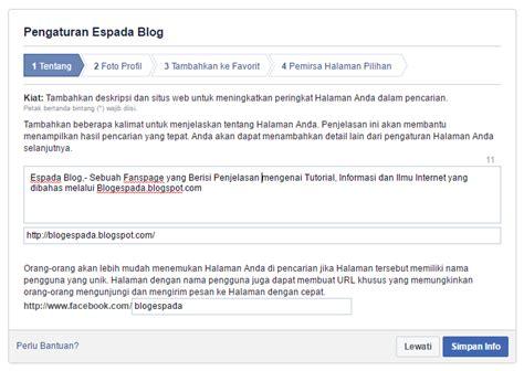 membuat fanspage twitter cara mudah membuat fanspage facebook terbaru espada blog