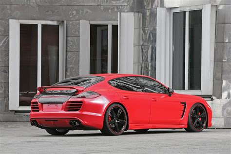 porsche panamera turbo red red porsche panamera tuning by anderson germany