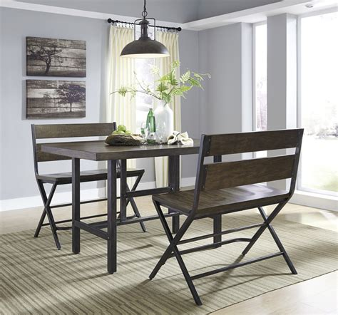 kavara high top dining collection rustic brown d469