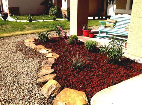 Red Lava Rock Landscaping Cary Invasion   GoodHomez.com