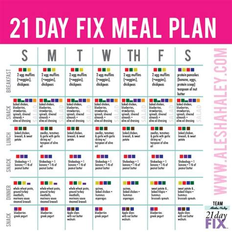 21 Day Detox Diet Plan Pdf by 21 Day Fix Meal Plan 21 Day Fix 21 Days