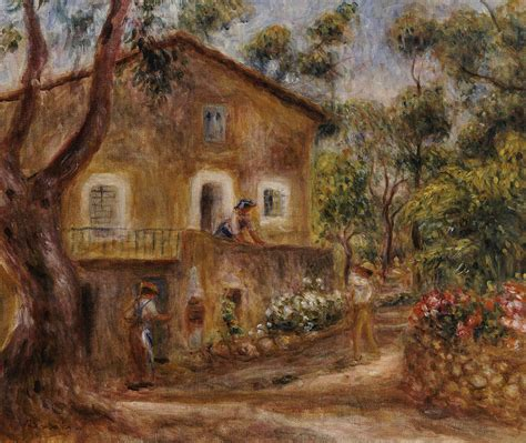 decoration maison cagne collette s house at cagne painting by auguste renoir