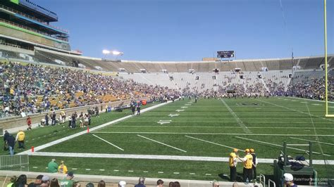 notre dame section notre dame stadium section 20 rateyourseats com