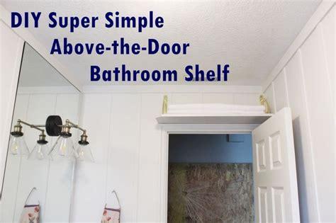 bathroom door storage diy simple above the door bathroom storage shelf