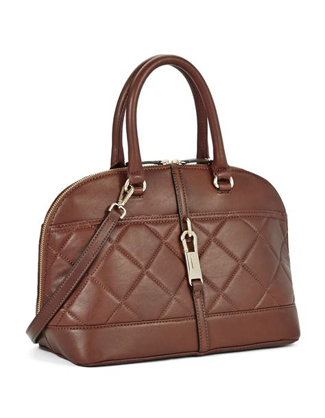 Calvin Klein Quilted Handbag by Calvin Klein Quilted Leather Bag In Brown Lyst