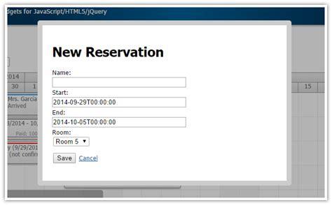 html5 date format mysql html5 hotel room booking javascript php mysql daypilot