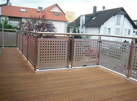 balkongeländer modern design gestalten balkon