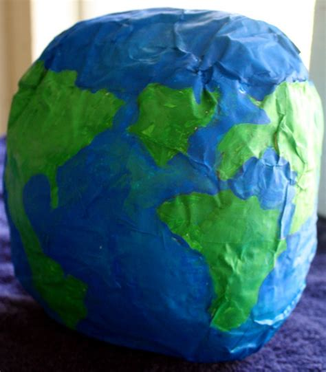 How To Make Paper Earth - papier m 226 ch 233 globe my own world adventure