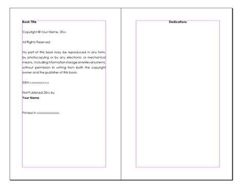 free book writing templates for word 28 free book template word best photos of book layout