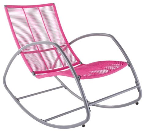 pink outdoor chair moretta metal pink rocking chair contemporary outdoor
