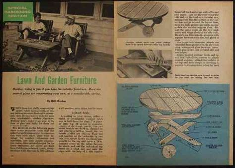Vintage Redwood Patio Furniture by Redwood Lawn Garden Furniture 7 How To Build Plans