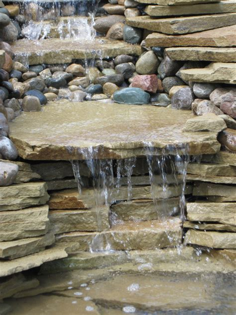 outcropping waterfall stone outcropping water features