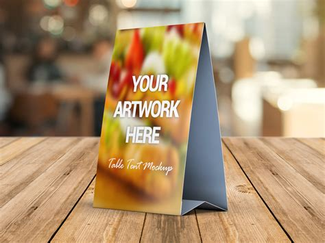 table tent card mockup psd mockup love