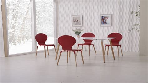 red dining table set white dining table and 6 red chairs homegenies