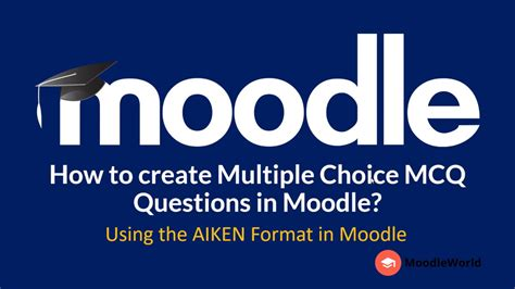 how to use m doodle how to create choice questions mcq in moodle