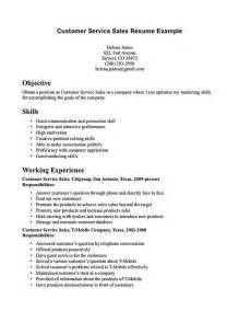 customer service rep sle resume customer service representative resume customer service