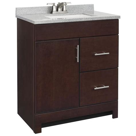style selections bathroom vanity shop style selections lagosta java integral single sink