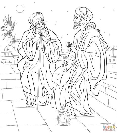 coloring pages jesus and nicodemus jesus and nicodemus http printablecolouringpages co uk