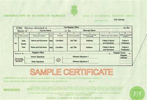 Marriage Records Uk Does A Copy Of A Marriage Certificate From The Gro In The
