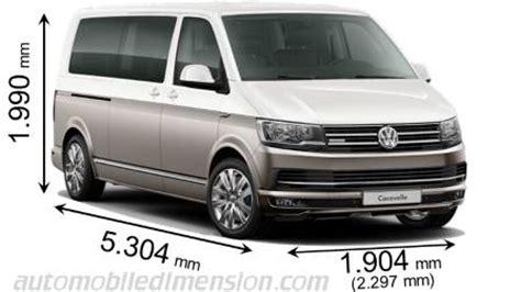 volkswagen caravelle dimensions dimensions des voitures volkswagen longueur x largeur x