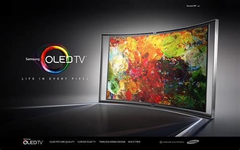 Tv Samsung Oled Samsung Oled Tv Microsite One Page Mania