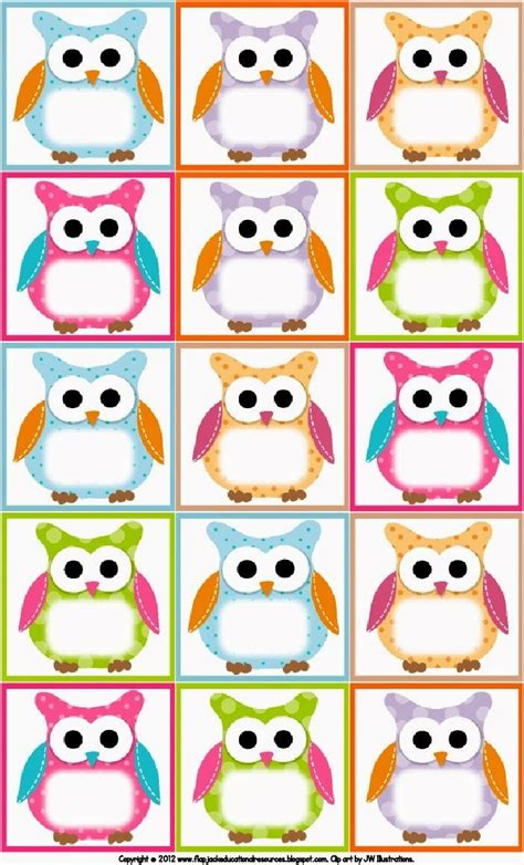 owl printables for classroom lechuzitas para imprimir adorables impresiones
