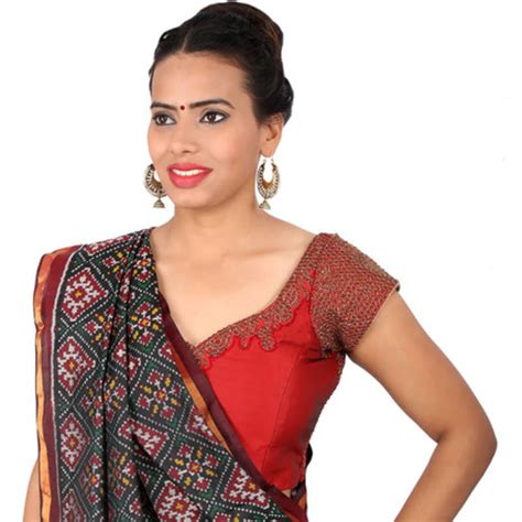 Blouse Maroon buy maroon bengal silk embroidery non padded readymade blouse